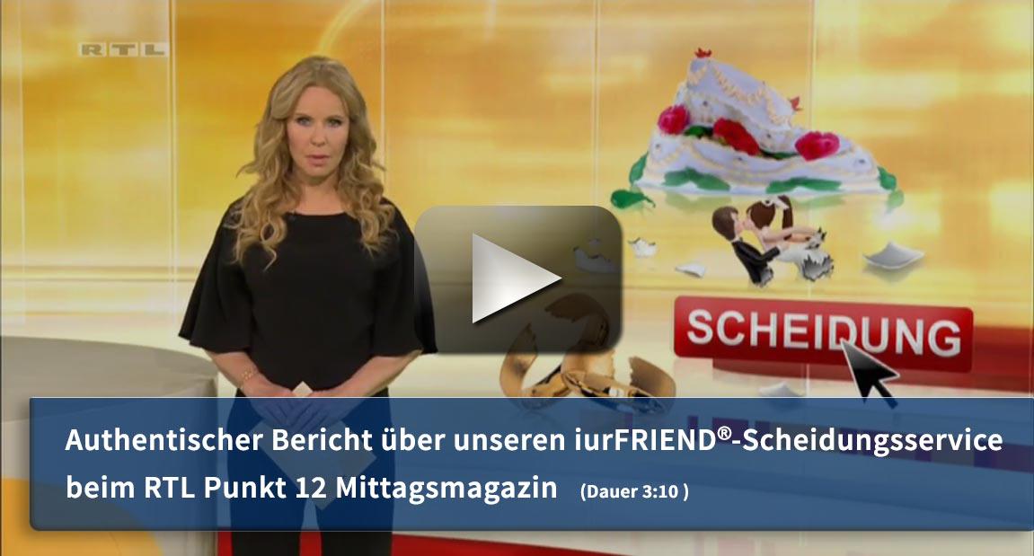 RTL Punkt 12 - das RTL-Mittagsmagazin: Online Scheidung