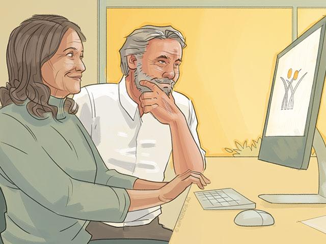 Mann durchläuft Scheidung